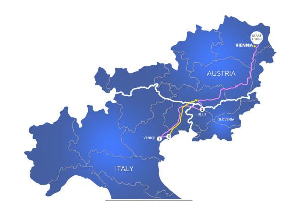Route 2 (Austria-Slovenia-Italy)